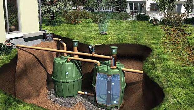podzemní nádrž na vodu - zavlažovací zásobník